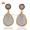 China Sterling Silver Quartz Crystal Earring for sale