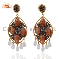 China Handmade Semi-Precious Stone Earrings on sale