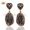 China Gemstone Tourmalinated Quartz Earrings for sale