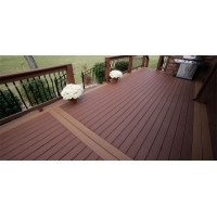 CR-1137 Non Slip WPC Decking For Walk Road With Polishing