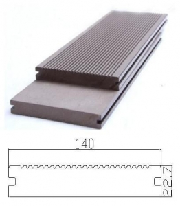China CR-1017 140x23mm WPC Solid Deck Flooring Board on sale