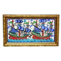 Assorted Hand Painted Ceramics Hand Painted Turkish Ceramic Tile-#2
