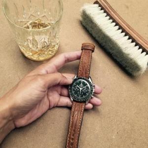 China New Jordan Caramel Padded Leather Watch Strap on sale
