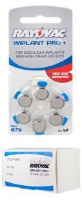 China Rayovac Cochlear Advanced Implant Batteries, Size 675, 60 pcs on sale