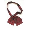 China Uniform Wear Of Lady's Silk Bowtie X Style Or Butterfly Style Printed Design Or Woven Logo Allover for sale