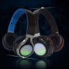 China Best Stereo LED Light Foldable Wireless Wifi Bluetooth V4.1 Headset Headphones With Mic for sale