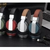 China Metal Spray Bluetooth V4.0 Wireless Leather Fone Headset Headphone Online Price For Bluetooth Device for sale