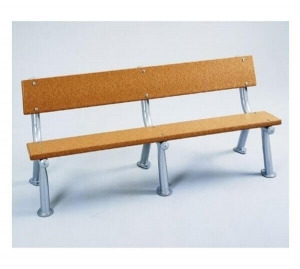 China Survivor Recycled Plastic Bench with Armless Metal Frame - 6 Ft. or 8 Ft. on sale