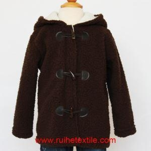 China Fluffy Fleece Baby Boy Coat Winter Hooded Jacket for Children on sale