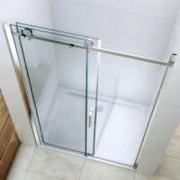 Twin Big Roller Barn Door Style Sliding Shower Door /enclosures/partition/ Screens/ Stalls/Walk In S