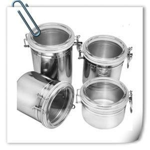 China Stainless Steel Tea Cans Tin Cans For Food Canning Coffee Sugar Canisters on sale