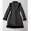 China PD-2 Women winter jacket with rabbit fur collar for sale