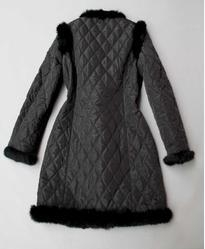 China PD-2 Women winter jacket with rabbit fur collar on sale