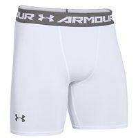 Baselayer Shorts - Mens Heat Gear Armour Compression Short - Mens - White/Graphite