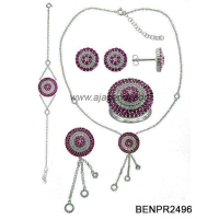 BENPR2496 Fashionable 2013 sterling silver jewelry set