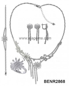 China BENR2868 925 silver jewellery set on sale