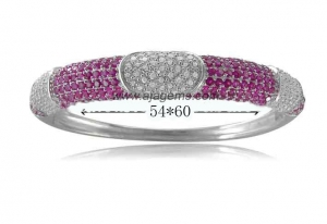 China BG4099 Fashion Rhodium Micro setting 925 silver bangle on sale
