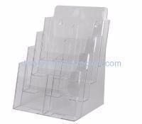 China Custom acrylic wall pamphlet magazine flyer and business card holder rack NBD-054 on sale