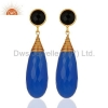 China Gold Plated Sterling Silver Black Onyx Earrings for sale