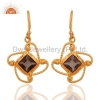 China Sterling Silver Smoky Quartz Earrings for sale