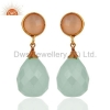 China Gold Plated Silver Chalcedony Earrings for sale