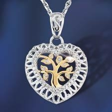 China Heart Jewelry Family Tree Of Life Pendant on sale