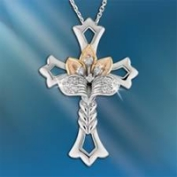 New Designs Believe In Miracles Jeweled Cross Pendant