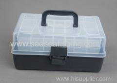 China 30*19*14cm Three Layer Multipurpose ABS Plastic Fishing Tackle Box Fishing Tool equpment case on sale