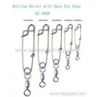 Wholesale Brass Rolling Swivel with open eye snap long line clip fishing tackle