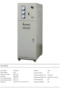 China AVR & TRANSFORMER SVC-60KVA single phase AC. automatic voltage regulator on sale