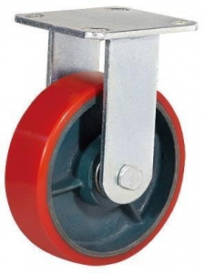 China Kaiston Caster Manufactured Industrial PU Castors on sale