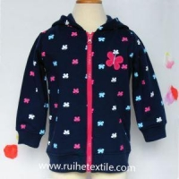 Butterfly Printed Zip Up Hoodie Casual Fleece Full Zip Hoodie Jacket for Girls