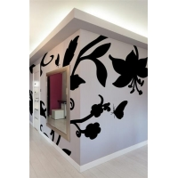 Baroque Flower-Wall Decal