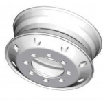 Trailer of forged aluminum wheels