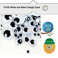 6mm--25mm Self Adhesive Sticky Black And White Googly Eyes For Crafts And Hobby Wholesale
