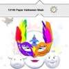 China Clowns Paper Halloween Masks For Crafts Kids for sale