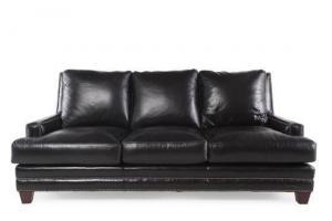China Henredon Leather Sofa on sale
