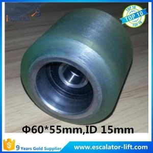 China Escalator Tension Roller Escalator Handrail Support Roller 60*55*6202-2RS on sale