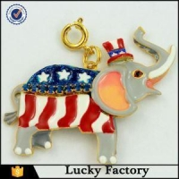 Newest Brass or Sterling Silver Enamel Elephant Charm Necklace Manufacurers