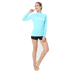 China REALON Rashguard Women's Basic Skins Long Sleeve Swimming Wetsuit Top Shirt on sale