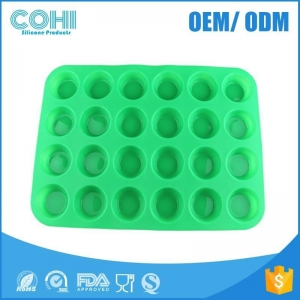 China New arrival 24 holes round silicone baking molds on sale