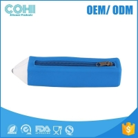 China Silicone customized pencil cases,2B&HB pencil shape pencil box on sale