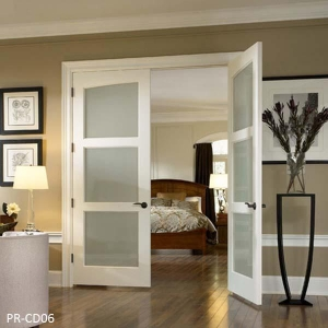 China Frosted glass aluminum swing door on sale