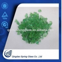 China Colorful Landscaping Tempered Glass Sand/granule for Graden Mulch/decoration on sale