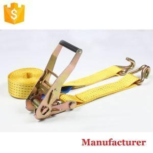 China 2 Inch 5t 4m 6m 8m 10m Ratchet Cargo Lashing Strap for Truck and Car Transportation with Wire Hooks on sale