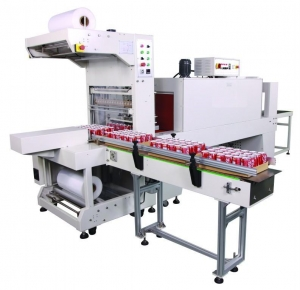 China Semi-automatic sleeve wrapper packaging line GPL-6030S+GPS-6040 on sale
