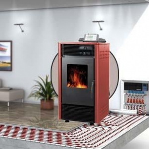 China 29Kw Pellet Stove with Water Heating BP29-BB on sale