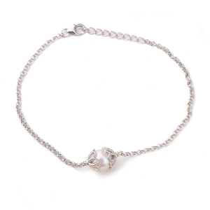 China Sterling silver pendant 925 silver pearl bracelet on sale
