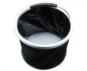 China New Collapsible Portable Barrel Auto Car Camping Sailing Boat Water Folding Bucket Black on sale