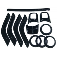 China Bolaxin Black 12 pcs ABS Chrome Interior Trim Accent Kits for 2011-2015 Jeep Wrangler 4 door on sale
